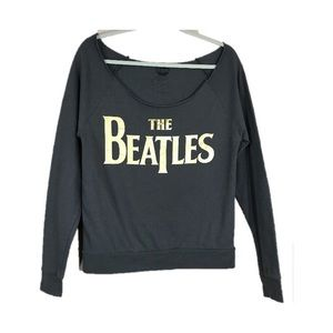 The Beatles Gray Cropped Sweatshirt Size S